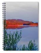 Evening Sun Glow On Calm Twin Lakes Yukon Canada Spiral Notebook