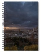 Evening Sunlit Seattle Skyline Spiral Notebook