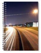 Evening Traffic On Highway Spiral Notebook