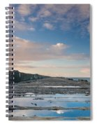 Evening View Down The South Jetty Spiral Notebook