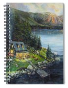 Evening Visitors Spiral Notebook