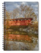 Everett Rd. Covered Bridge In Fall Spiral Notebook