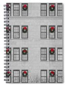 Evergreen Christmas Wreaths Abstract Spiral Notebook