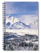 Evergreen Trees On A Snow Covered Spiral Notebook