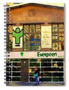Evergreen Yonge St  Scenes Building A Better Toronto One Person At A Time Community Center Cspandau Spiral Notebook