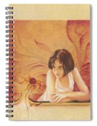 Everyday Angel With Flower Spiral Notebook
