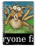 Everyone Farts Poster Spiral Notebook