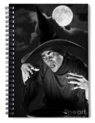 Evil Witch Under A Full Moon Spiral Notebook