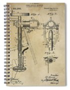 Evinrude Outboard Marine Engine Patent  1910 Spiral Notebook