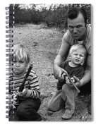 Ex Green Beret Barry Sadler In Target Practice With Son's Thor And Baron Tucson Arizona 1971 Spiral Notebook