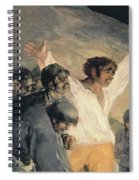 Execution Of The Defenders Of Madrid Spiral Notebook