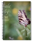 Exhale Only Love Spiral Notebook