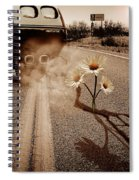 Exhausting Pipe Flowers Spiral Notebook