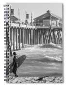 Existential Surfing At Huntington Beach Spiral Notebook