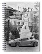 Exotic New Orleans Monochrome Spiral Notebook