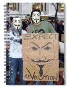 Expect Revolution Spiral Notebook