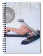 Experimental Crucifix Color Spiral Notebook