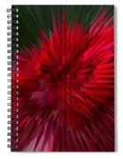 Exploding Rose Spiral Notebook