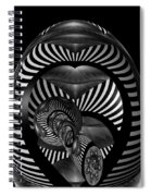 Exploration Into The Unknown Bw Spiral Notebook
