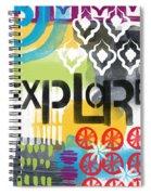 Explore- Contemporary Abstract Art Spiral Notebook