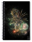 Explosion Of Color On Canada Day Spiral Notebook