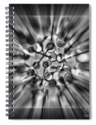 Explosive Abstract Black And White By Kaye Menner Spiral Notebook