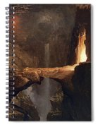 Expulsion. Moon And Firelight Spiral Notebook