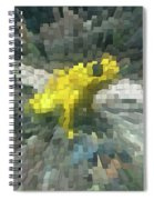 Extrude Yellow Frog Spiral Notebook