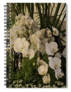 Exuberant Orchid Display Spiral Notebook