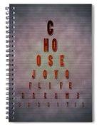 Eyechart Inspiring Typography Art Spiral Notebook