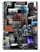 Eyes Down From The 103rd Floor Collage Spiral Notebook
