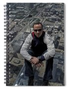 Eyes Down From The 103rd Floor Just Sitting Around Spiral Notebook