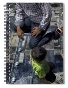Eyes Down From The 103rd Floor Little Dude With No Fear Spiral Notebook