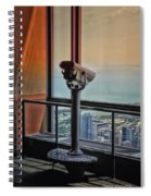 Eyes Down From The 103rd Floor Telescope Looking South Spiral Notebook