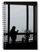 Eyes Down From The 103rd Floor Texting From The Top Of The World Spiral Notebook