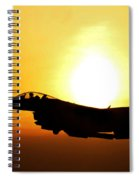 F-16 Fighting Falcon Flying Over Korea Spiral Notebook