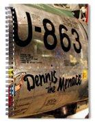 F-86d Sabre Dennis The Menace Spiral Notebook
