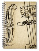 F Hole Line Drawing Spiral Notebook
