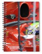 F1 Driver Felipe Massa Spiral Notebook