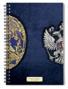 Faberge Tsarevich Egg With Surprise On Blue Velvet Spiral Notebook