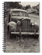 Fabulous Vintage Car Black And White Spiral Notebook