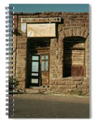 Facade American Pool Hall Coca-cola Sign Ghost Town Jerome Arizona Spiral Notebook