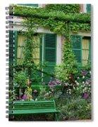 Facade Of Claude Monets House, Giverny Spiral Notebook