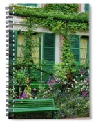 Facade Of Claude Monets House, Giverny Spiral Notebook