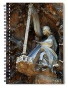 Facade Of Sagrada Familia Spiral Notebook