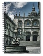 Facade Of The Silverware In Santiago De Compostela Spiral Notebook
