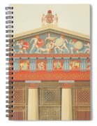 Facade Of The Temple Of Jupiter Spiral Notebook