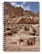 facade street in Nabataean ancient town Petra Spiral Notebook