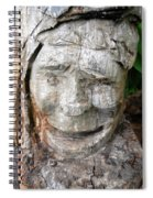 Face In A Tree Spiral Notebook