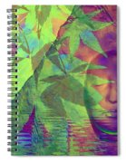 Face In The Rock With Maple Leaves Spiral Notebook